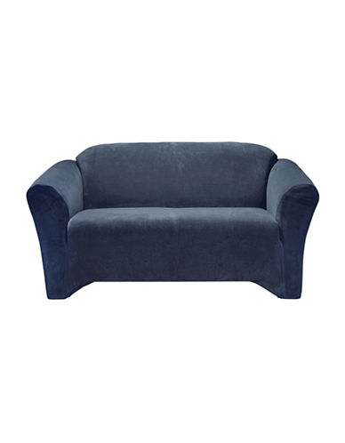 Sure Fit Hanover One-Piece Stretch Loveseat Slipcover-INDIGO-One Size