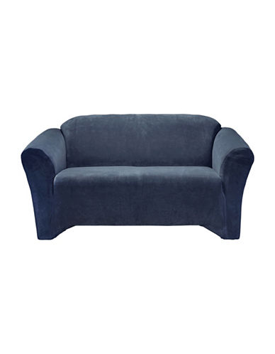 Sure Fit Hanover One-Piece Stretch Sofa Slipcover-INDIGO-One Size