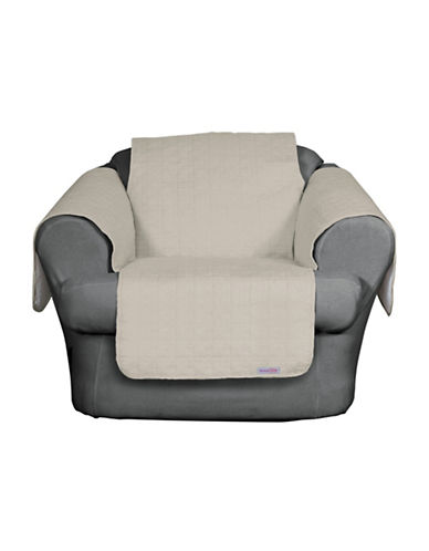 Sure Fit QuickCover Premium Microsuede Chair Protector-BONE-One Size
