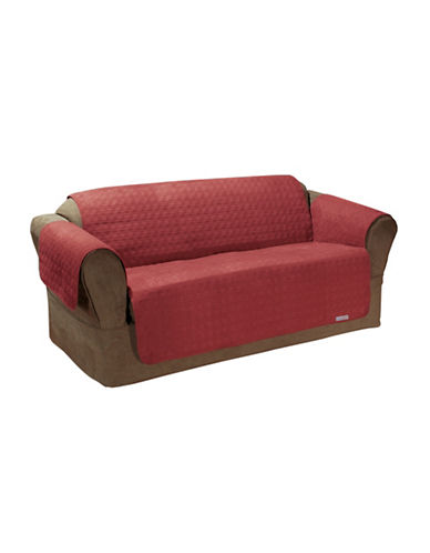 Sure Fit QuickCover Premium Microsuede Sofa Protector-MERLOT-One Size