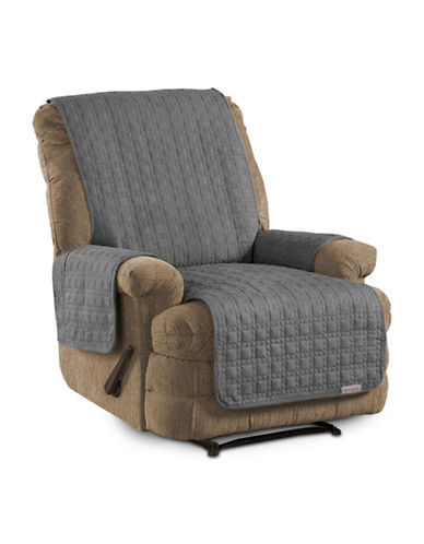 Sure Fit Microsuede Recliner and Chaise Protector-SLATE-One Size