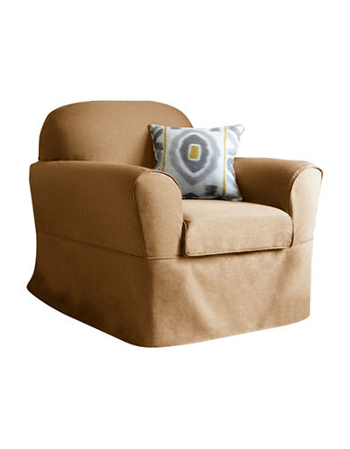 Sure Fit Surefit Bayside One-Piece Chair Slipcover-SAND-One Size