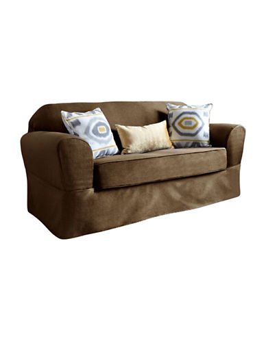 Sure Fit Surefit Bayside One-Piece Loveseat Slipcover-TOBACCO-One Size