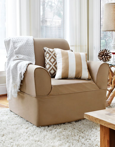 Sure Fit Dorchester Wrap-Style Chair Slipcover-BISCUIT-One Size
