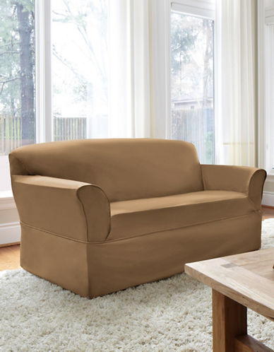 Sure Fit Dorchester Wrap-Style Loveseat Slipcover-BISCUIT-One Size