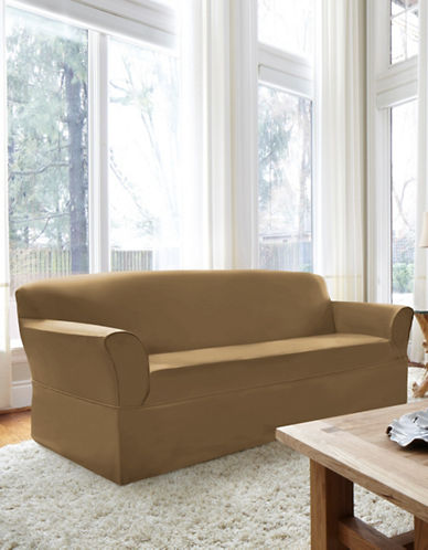 Sure Fit Dorchester Wrap-Style Sofa Slipcover-BISCUIT-One Size