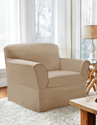 Sure Fit Dorchester Wrap-Style Chair Slipcover-BONE-One Size