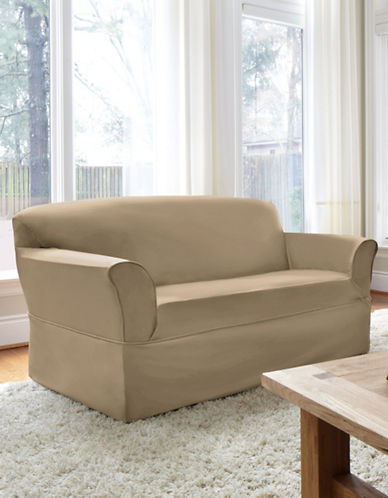 Sure Fit Dorchester Wrap-Style Loveseat Slipcover-BONE-One Size
