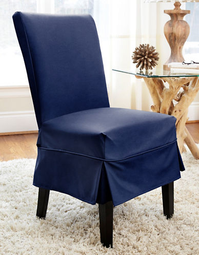 Sure Fit Dorchester Mid-Length Dining Chair Slipcover-INDIGO-One Size