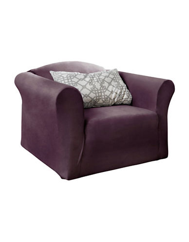 Sure Fit Harlow One-Piece Stretch Chair Slipcover-BOYSENBERRY-One Size