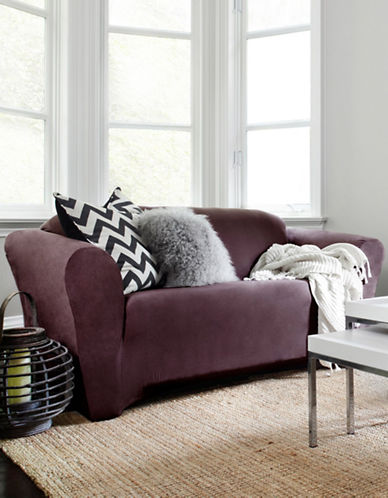 Sure Fit Harlow One-Piece Stretch Sofa Slipcover-BOYSENBERRY-One Size