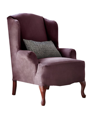 Sure Fit Harlow Wingtip Chair Slipcover-BOYSENBERRY-One Size