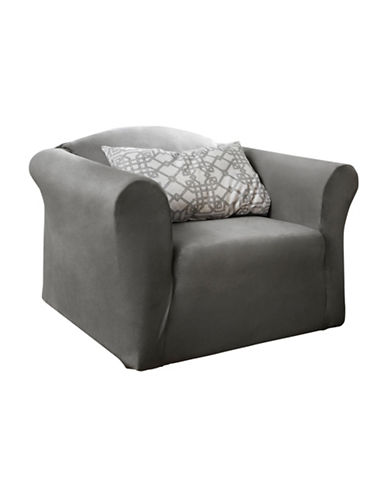 Sure Fit Harlow One-Piece Stretch Chair Slipcover-SLATE-One Size