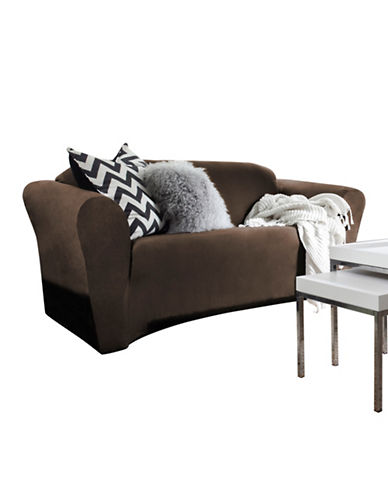 Sure Fit Harlow Loveseat Slipcover-BARK-One Size