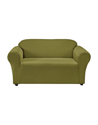 Sure Fit Montgomery One-Piece Stretch Loveseat Slipcover-MOSS-One Size