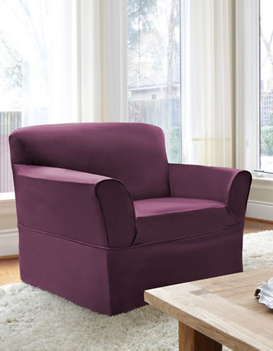 Sure Fit Dorchester Wrap-Style Chair Slipcover-BOYSENBERRY-One Size
