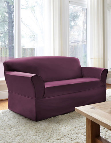 Sure Fit Dorchester Wrap-Style Loveseat Slipcover-BOYSENBERRY-One Size