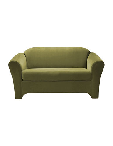 Sure Fit Eastwood Two-Piece  Stretch Loveseat Slipcover-MOSS-One Size
