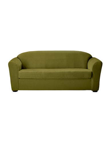 Sure Fit Eastwood Two-Piece Stretch Sofa Slipcover-MOSS-One Size