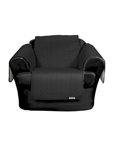 Sure Fit QuickCover for Leather Microsuede Chair Protector-NOIR-One Size