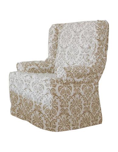 Sure Fit Surefit Chelsea Wing Chair Slipcover-BONE-One Size