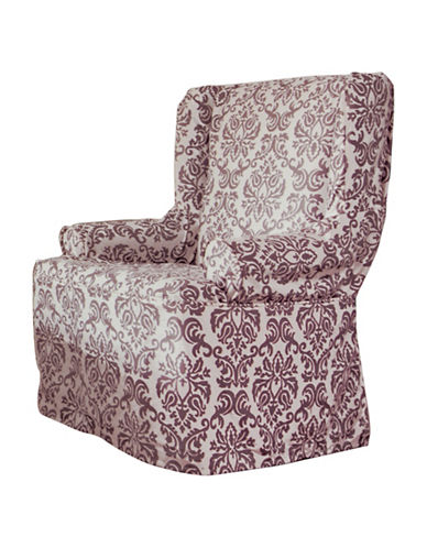 Sure Fit Surefit Chelsea Wing Chair Slipcover-BOYSENBERRY-One Size