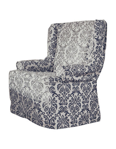 Sure Fit Surefit Chelsea Wing Chair Slipcover-INDIGO-One Size