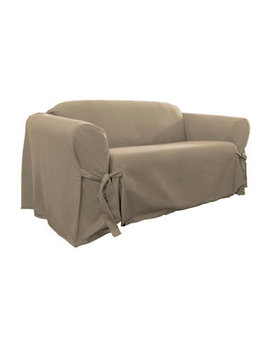 Sure Fit Muskoka One-Piece Sofa Slipcover-TAUPE-One Size