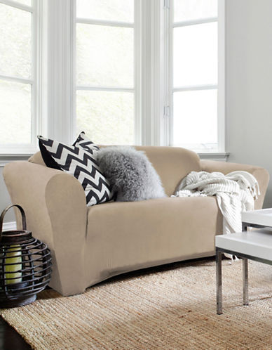 Sure Fit Harlow Loveseat Slipcover-TAUPE-One Size