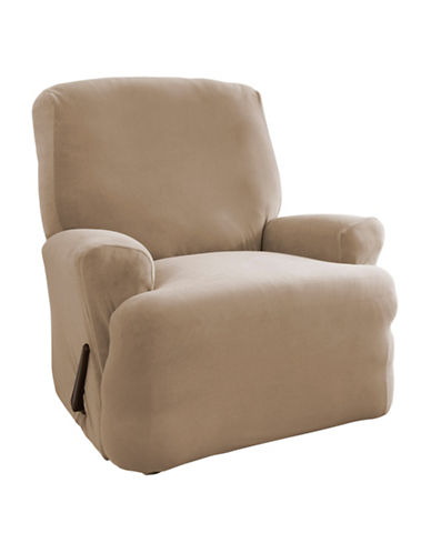Sure Fit Harlow One-Piece Stretch Recliner Slipcover-TAUPE-One Size