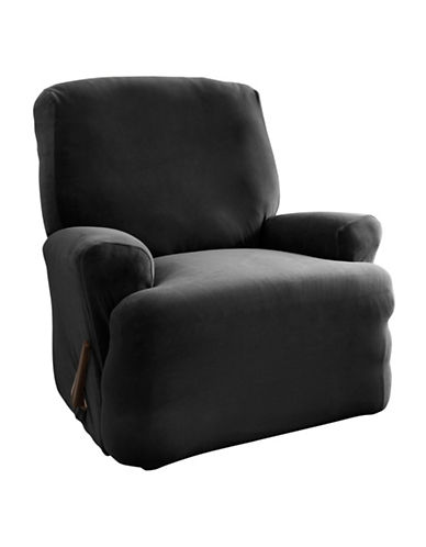 Sure Fit Harlow One-Piece Stretch Recliner Slipcover-NOIR-One Size
