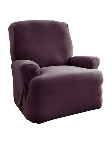 Sure Fit Harlow One-Piece Stretch Recliner Slipcover-BOYSENBERRY-One Size