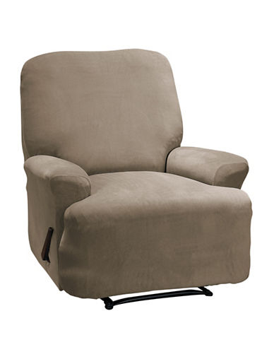 Sure Fit Eastwood Four-Piece Stretch Recliner Slipcover-MINK-One Size