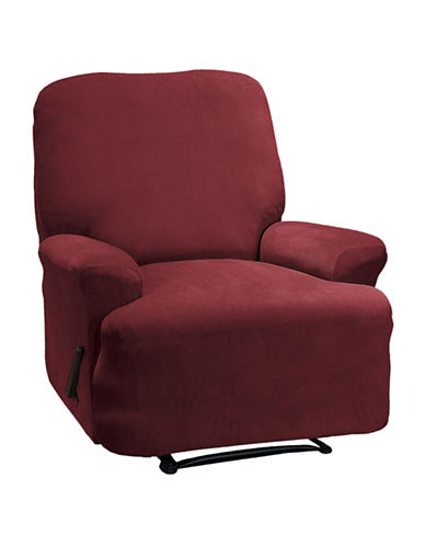 Sure Fit Eastwood Four-Piece Stretch Recliner Slipcover-MERLOT-One Size