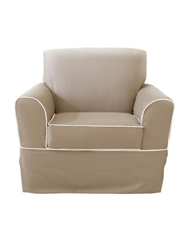 Sure Fit Westport Chair with Ties Slipcover-BONE-One Size