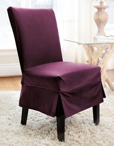 Sure Fit Dorchester Mid-Length Dining Chair Slipcover-BOYSENBERRY-One Size
