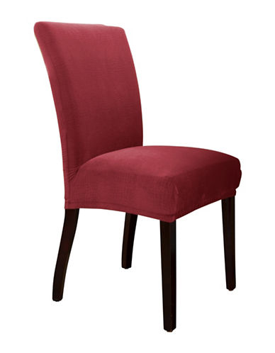 Sure Fit Jagger Stretch One-Piece Parson Chair Slipcover-MERLOT-One Size