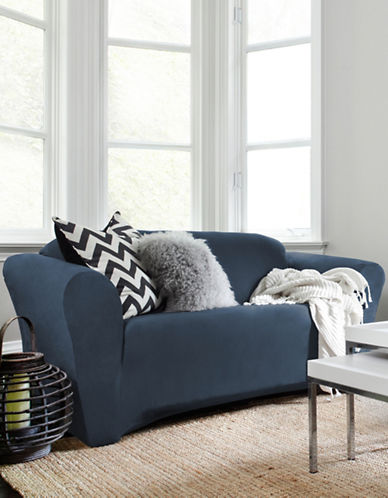 Sure Fit Harlow Loveseat Slipcover-BLUE-One Size