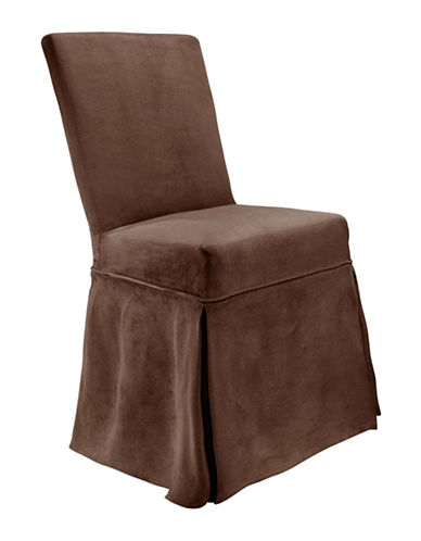 Sure Fit Portland One-Piece Chair Slipcover-CHOCOLATE-One Size