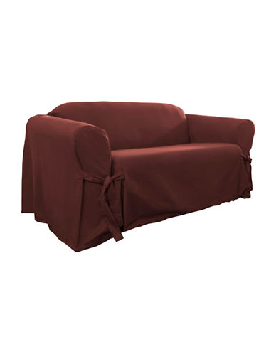 Sure Fit Muskoka One-Piece Loveseat Slipcover-RED-One Size