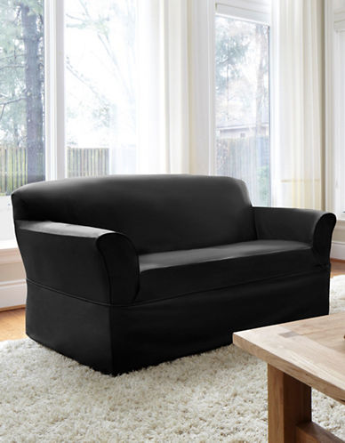 Sure Fit Dorchester Wrap-Style Loveseat Slipcover-EBONY-One Size