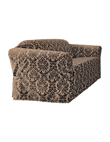 Sure Fit Surefit Chelsea Loveseat Slipcover-BLACK-One Size