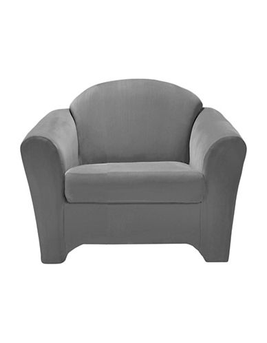 Sure Fit Surefit Eastwood Two-Piece Chair Slipcover-DOVE-One Size