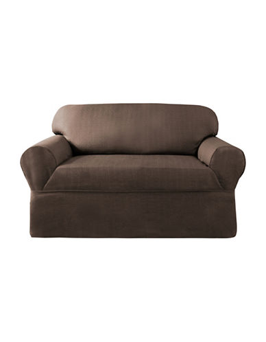 Sure Fit Surefit Bayside One-Piece Loveseat Slipcover-CHOCOLATE-One Size