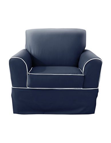 Sure Fit Westport Chair with Ties Slipcover-INDIGO-One Size