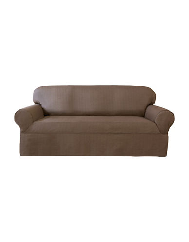 Sure Fit Bayside Wrap-Style Sofa Slipcover-TOBACCO-One Size