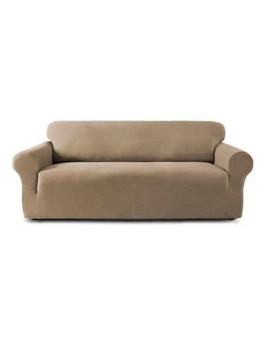 Sure Fit Sydney Embossed Stretch Loveseat Slipcover-TAUPE-One Size