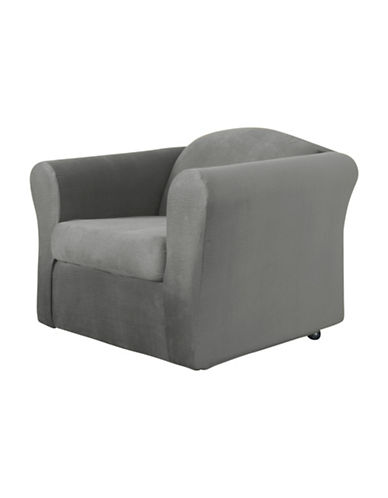 Sure Fit Jagger Stretch Two-Piece Chair Slipcover-SLATE-One Size