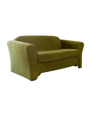 Sure Fit Jagger Stretch Two-Piece Loveseat Slipcover-MOSS-One Size