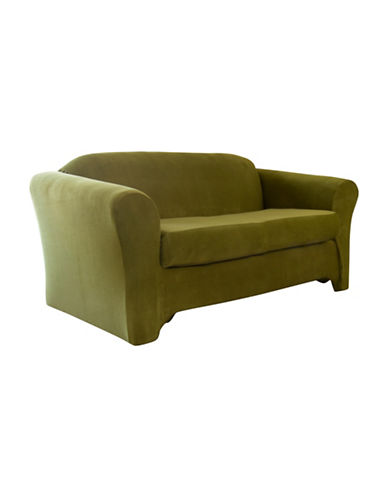 Sure Fit Jagger Stretch Two-Piece Sofa Slipcover-MOSS-One Size